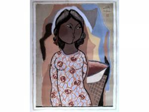 Det lille kvindemenneske - Guache - 1947