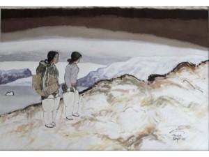 Thulebopladsen - Akvarel - 1948