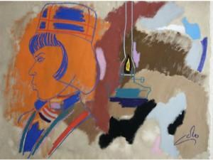 Samisk Inspiration - Gouache - 1967