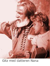 gitz med datteren Nana